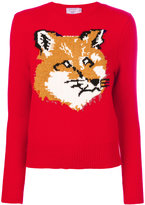 MAISON KITSUNÉ fox pattern jumper - women - Lambs Wool - XS
