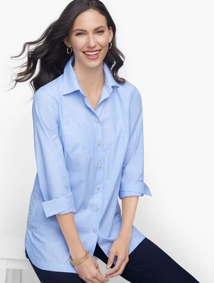 Talbots Poplin Relaxed Tunic - End-On-End