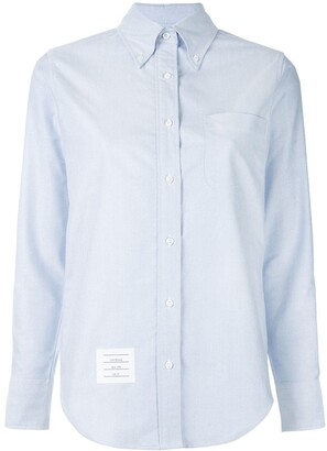 Thom Browne Classic Long Sleeve Button Down Shirt In Blue Oxford