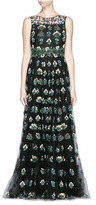 Valentino 'Primavera' floral embroidery tulle gown