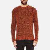 Folk Textured Knitted Jumper Rust