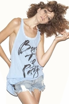 Rebel Yell Born to Party Racerback Tank Tunic in Periwinkle