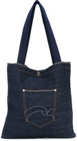 Societe Anonyme denim selvage pocket tote - unisex - Cotton - One Size
