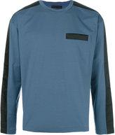 Prada long-sleeved panelled top