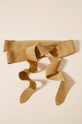 Anthropologie Brynn Studded Wrap Belt By in Beige
