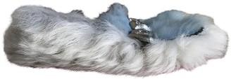 Prada Blue Fur Flats