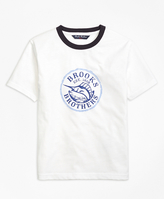 Brooks Brothers Novelty Ringer Tee