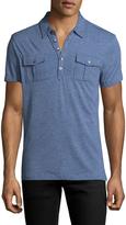 John Varvatos Men's Soft Collar Polo Shirt