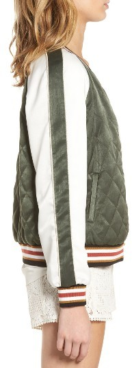 Cupcakes And Cashmere Women's Brice Reversible Varsity Jacket