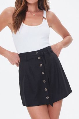 Forever 21 Button-Front A-Line Skirt