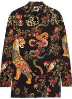 Etro Printed Silk-crepe Shirt - Black