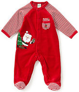 Little Me Baby Boys 3-9 Months My First Christmas Santa Footed Coverall