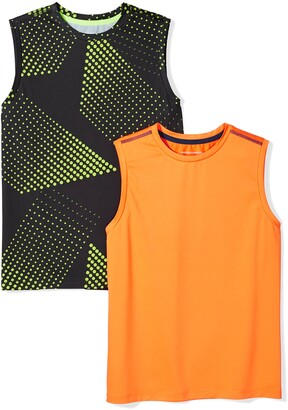 Amazon Essentials Toddler Boys' 2-Pack Active Muscle Tank