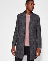 Herringbone Bouclé Wool-blend Coat