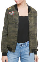 Sanctuary Embroidered Camo Bomber Jacket