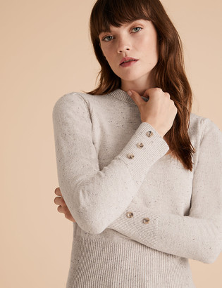 Marks and Spencer Cotton Button Detail Jumper