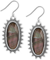 Lucky Brand Silver-Tone Mother-of-Pearl-Look Drop Earrings