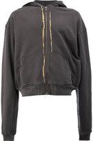 Haider Ackermann metallic thread zipped hoodie - men - Cotton/Spandex/Elastane - S
