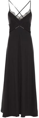 Victoria Beckham Open-back Lace-trimmed Silk Crepe De Chine Midi Slip Dress