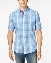 Club Room Men's Plaid Short-Sleeve Shirt, Only at Macy's