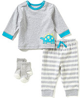 Little Me Baby Boys 3-12 Months 3-Piece Dino Jogger Set