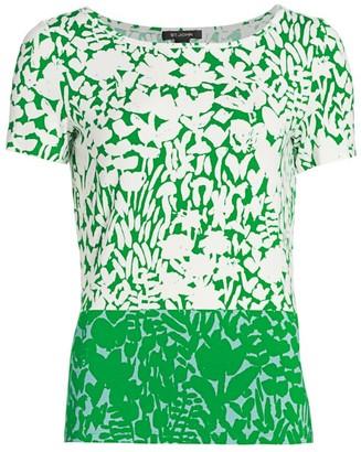 St. John Foral Markings Jersey Bateau T-Shirt