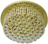 TITANIALUX UK CZ381/6GO Crystal Chandelier, Crystal, Polished Brass, G9, 40 watts45x45x30