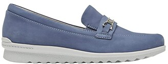 Aravon Josie Bit Loafer (Blue) Women's Shoes