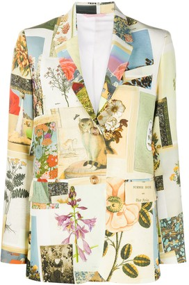 VIVETTA Botanical Print Tailored Blazer