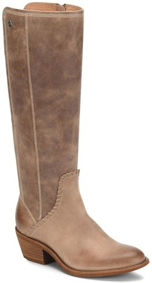 Sofft Tall Whipstitch Detail Leather Boots - Anniston