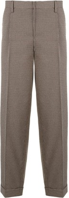 Kolor Houndstooth Patterned Pleated Trousers