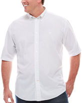 Dockers Short-Sleeve Print Poplin Button-Front Shirt - Big & Tall