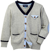 Andy & Evan Chambray Inset Cardigan (Toddler & Little Boys)