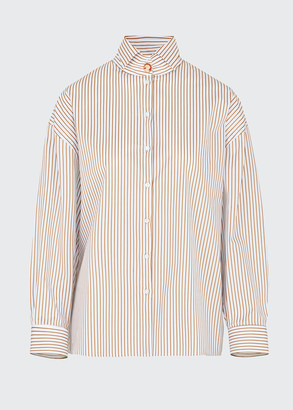 Giuliva Heritage Collection Oversized Wing-Collar Shirt