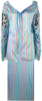 Esteban Cortazar striped asymmetric shirt