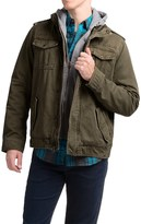 Levi's Twill Trucker Jacket with Hooded Bib (For Men)