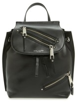 Marc Jacobs Zip Leather Backpack - Black