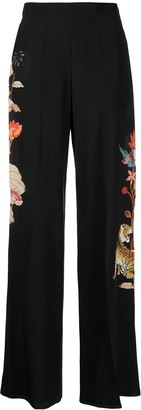 Etro Tiger print flared trousers