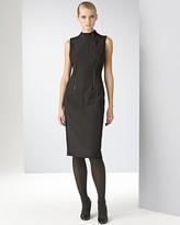 Anne Klein Dress Women's Sleeveless Crepe Sheath Dress with Patent Seaming