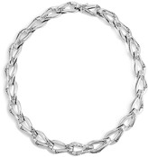 John Hardy Sterling Silver Bamboo Link Necklace with Diamonds, 18""