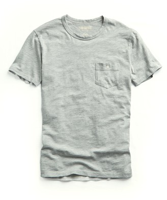 Todd Snyder Made in L.A. Slub Jersey Pocket T-Shirt in Grey Heather