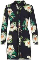 Izabel London *Izabel London Navy Floral Print Shirt Dress