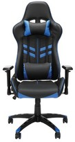 Jones Street Racing Ergonomic Genuine Leather Gaming Chair Symple Stuff Upholstery Color: Black/Blue