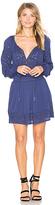 Alice + Olivia Brenda Mini Dress in Blue