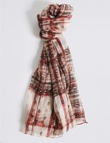 Marks and Spencer Rebel Check Scarf