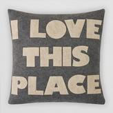"""Alexandra Ferguson I Love This Place Felt Decorative Pillow, 16"""" x 16"""