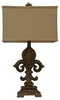 J. Hunt Monticello Fleur De Les Table Lamp - Brown/Light Brown