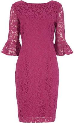 Roman Originals Frill Sleeve Lace Shift Dress