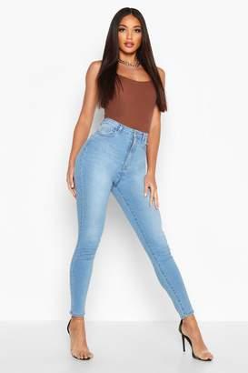 boohoo Butt Shaper Stretch Skinny Jean