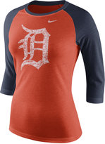Nike Women's Detroit Tigers Tri Raglan T-Shirt